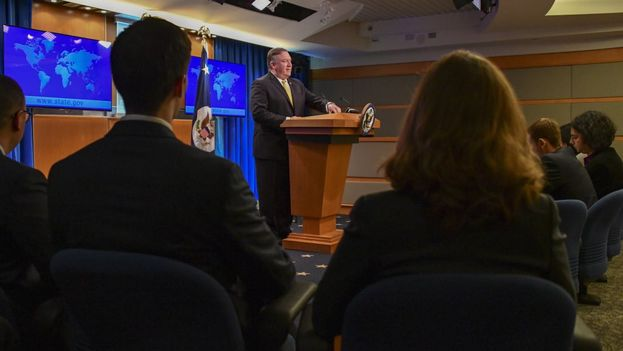 Mike Pompeo acusó a Irán de utilizar a la Corte de forma hipócrita contra su país. (@SecPompeo)