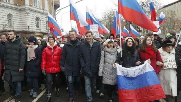 Miles de personas se lanzaron a las calles a pedir el fin del gobierno ruso de Vladímir Putin. (EFE Archivo)
