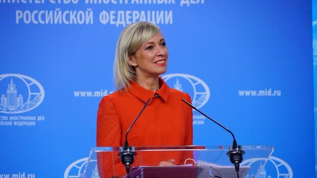 La portavoz del Ministero de Asuntos Exteriores ruso, Maria Zajárova. (EFE)