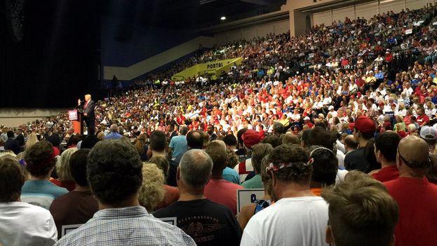 Mitin de Donald Trump este miércoles en Jacksonville. (@realDonaldTrump)