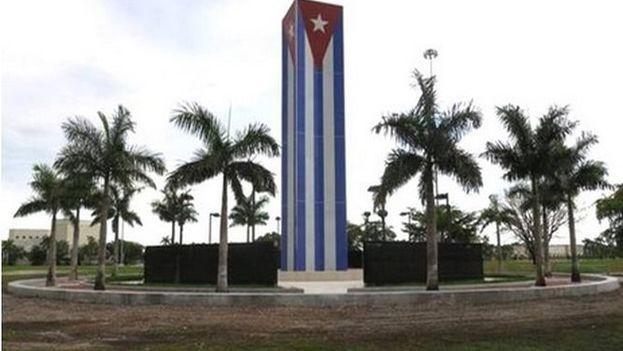 Monumento del Memorial Cubano en Miami, donde tuvo el acto de homenaje este domingo. (holaciudad)