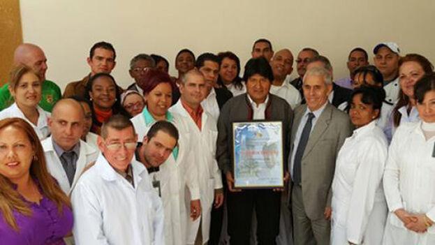 Evo Morales en 2016, en la conmemoración del décimo aniversario de la Clínica del Colaborador. (Ministerio de Relaciones Exteriores)