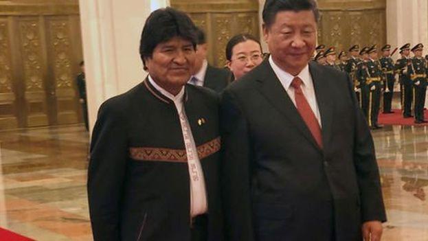 Morales contó a Xi su admiración desde sus años jóvenes por Mao Zedong, el fundador de la República Popular China. (paginasiete.bo)