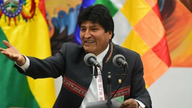 Morales agradeció el voto rural que, a su juicio, ha sido fundamental para su virtual reelección. (evopueblo)