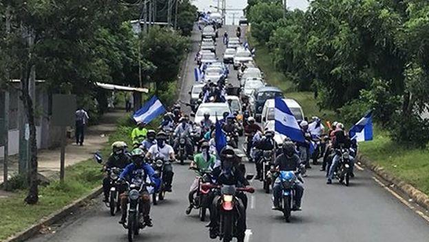 Movilización del domingo Managua no olvida, Nicaragua no se rinde contra lo que consideran una limpieza contra la oposición a Ortega. (La Prensa)