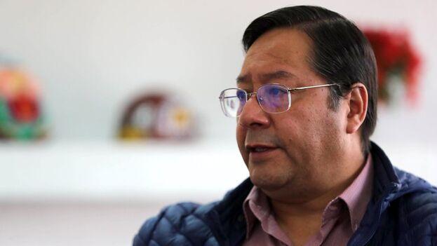 Luis Arce, candidato del Movimiento al Socialismo (MAS) de Evo Morales, en La Paz, Bolivia. (EFE/ Martín Alipaz )