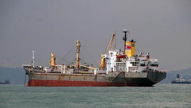 El buque norcoreano Mu Du Bong. (John Wrightson/Marinetraffic)