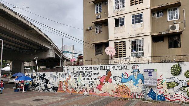 Mural contra la Invasión estadounidense de Panamá de 1989. (EFE)