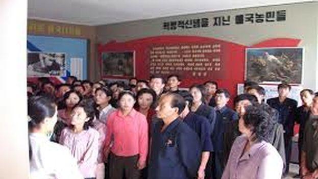 Los norcoreanos pueden contemplar en el Museo Sinchon los presuntos crímenes de guerra que su Gobierno atribuye a EE UU