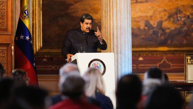 Nicolás Maduro durante una Sesión Especial de la Asamblea Nacional Constituyente este viernes Palacio Federal Legislativo de Caracas. (EFE/Prensa Miraflores)