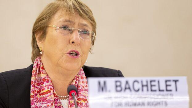 La alta comisionada de las Naciones Unidas para los Derechos Humanos, Michelle Bachelet. (EFE/EPA/Salvatore Di Nolfi/Archivo)