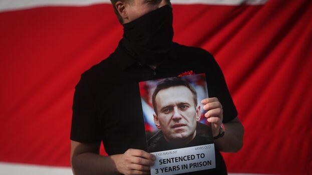 """""""Se ha tomado la decisión de trasladar a A. Navalni al hospital regional para condenados, que se encuentra en el penal IK-3"""". (EFE)"""