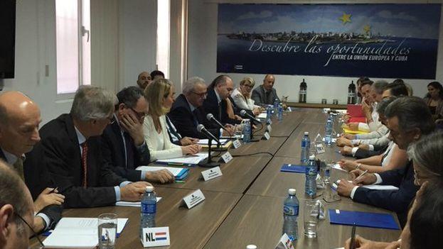 Negociaciones entre Cuba y la Unión Europea este viernes en La Habana. (Twitter)