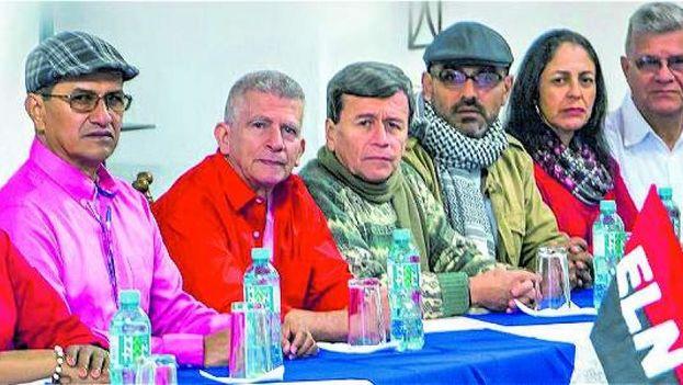 Negociadores del ELN en La Habana, cuya detención ha sido solicitada ahora por Colombia. (ELN)