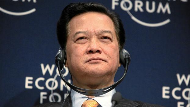 Nguyen Tan Dung, primer ministro vietnamita, en el Foro de Davos en 2010. (CC/Wikipedia)
