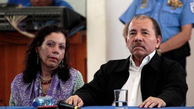 El presidente de Nicaragua, Daniel Ortega, y su esposa Rosario Murillo. (EFE)