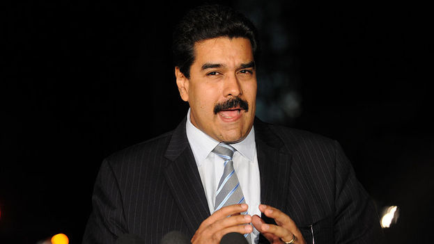 Nicolás Maduro hace declaraciones a la prensa (archivo)