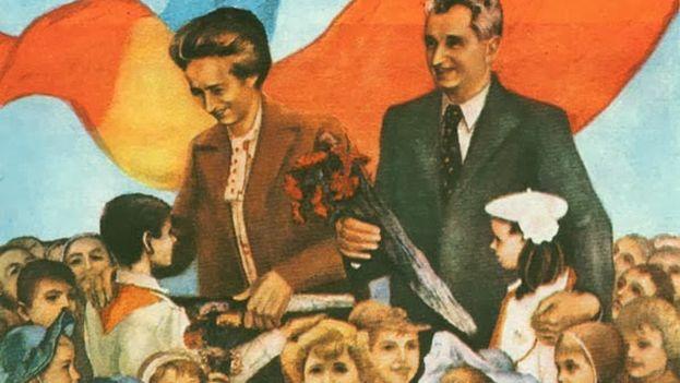 El dictador rumano Nicolae Ceausescu era mostrado en la propaganda comunista como un amante de los niños. (Archivo)
