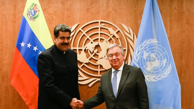 """Nicolás Maduro se reunió con António Guterres a quien trasladó, en su opinión, la """"verdad"""" sobre Venezuela. (NicolásMaduro)"""