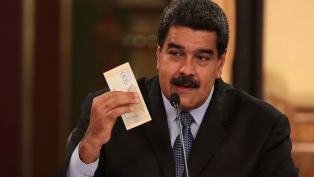 El presidente venezolano, Nicolás Maduro, durante las declaraciones en cadena obligatoria de radio y televisión el viernes 17 de agosto de 2018, en Caracas (EFE/PRENSA MIRAFLORES)