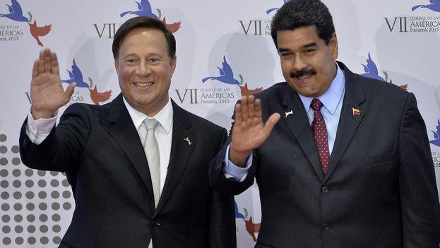 Juan Carlos Valera y Nicolás Maduro juntos en la anterior Cumbre de las Américas, celebrada en Panamá. (Cumbre de las Américas)