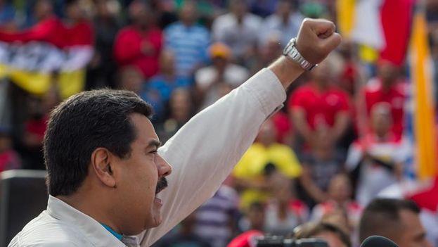 Nicolás Maduro durante un discurso (Foto Miguel Gutiérrez/EFE)
