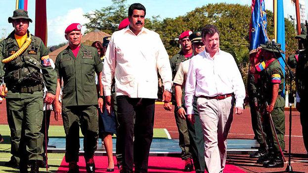 Nicolás Maduro y Juan Manuel Santos reunidos en agosto de 2014. (Presidencia)
