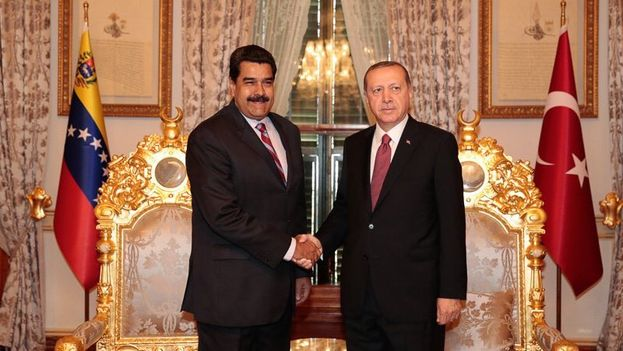 El presidente venezolano, Nicolás Maduro, y su homólogo turco, Recep Tayyip Erdogan. (@NicolasMaduro)