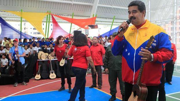 Nicolás Maduro este domingo durante el acto en Vargas. (PSUV)