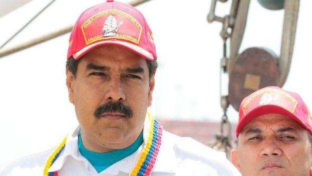 Nicolás Maduro el pasado lunes en un encuentro con trabajadores. (@PSUV)