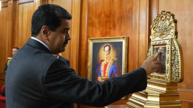 """Nicolás Maduro afirmó ayer que """"más allá de las medidas de seguridad"""" lo """"salvó un milagro"""". (NicolásMaduro)"""