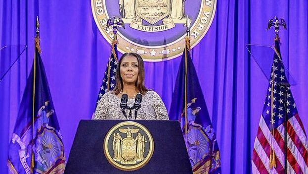 La fiscal general del estado de Nueva York, Letitia James, celebró en Twitter la victoria judicial.