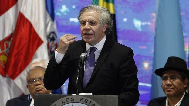 El secretario general de la OEA, Luis Almagro, durante la inauguración de la 49 Asamblea General de la OEA, en Medellín. (Archivo EFE)