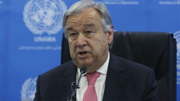 """El secretario general de la ONU, António Guterres, considera que """"este paso positivo hacia delante contribuye a generar confianza"""". (EFE)"""