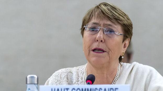 Imagen de la alta comisionada de la ONU para los Derechos Humanos, Michelle Bachelet. (EFE)