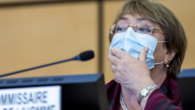La alta comisionada ante la ONU para los Derechos Humanos y expresidenta de Chile, Michelle Bachelet. (EFE/EPA/Martial Trezzini)