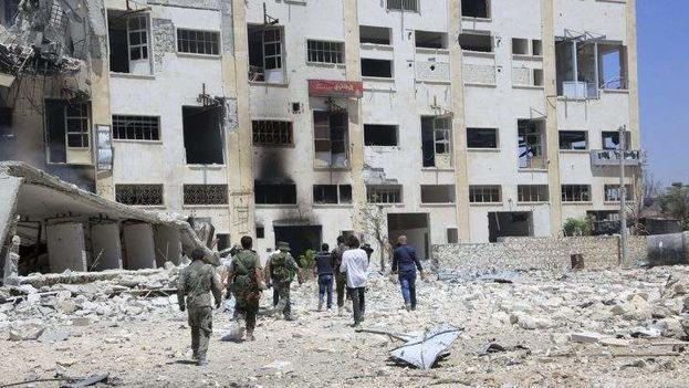 El Observatorio Sirio de Derechos Humanos informa que al menos 346.612 personas han fallecido en Siria desde el comienzo del conflicto en 2011. (EFE)