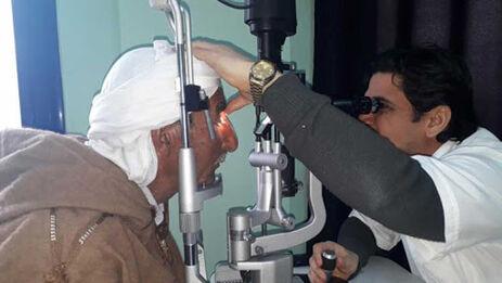 Oftalmólogos cubanos en Argelia.