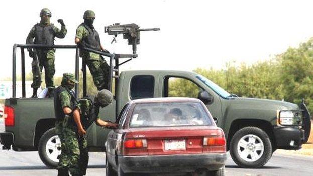 Operativo policial del ejército mexicano. (archivo)