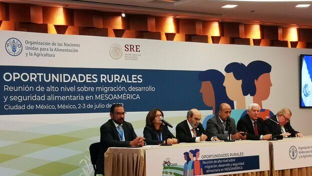 El foro 'Oportunidades rurales. Reunión de alto nivel sobre migración, desarrollo y seguridad alimentaria en Mesoamérica' se celebró en México convocado por la ONU. (THPMéxico)