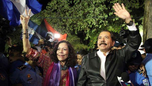 Daniel Ortega y Rosario Murillo forman tándem en la candidatura a la presidencia de Nicaragua. (D.U./Confidencial)