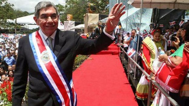 Óscar Arias durante la toma de posesión de su segundo mandato. (Twitter/ @oariascr)