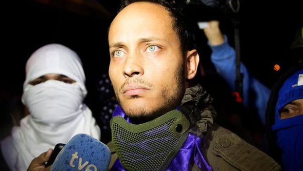 Óscar Pérez dio una entrevista a TVE que se emite este viernes. (Captura)