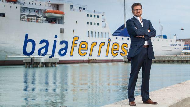 Óscar Ruano, director general de Baja Ferries. (Llorente y Cuenca)