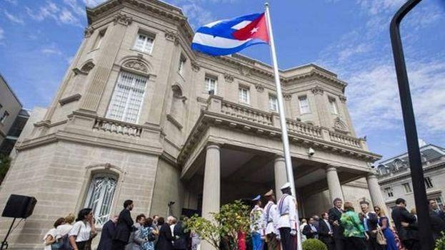 La Oswaldo Payá Way está frente a la embajada de Cuba en Washington. (EFE)