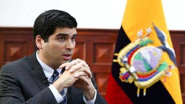 Otto Sonnenholzner estuvo en el cargo de vicepresidente de Ecuador 18 meses. (EFE/José Jácome)