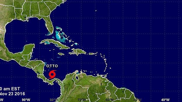 Otto batió el récord del huracán que se forma más tarde en la temporada oficial en el Mar del Caribe. (NHC)