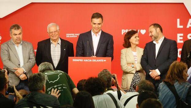 La victoria del PSOE en los tres comicios celebrados este domingo se vio empañada por la falta de mayoría para volver a gobernar Madrid. (PSOE)