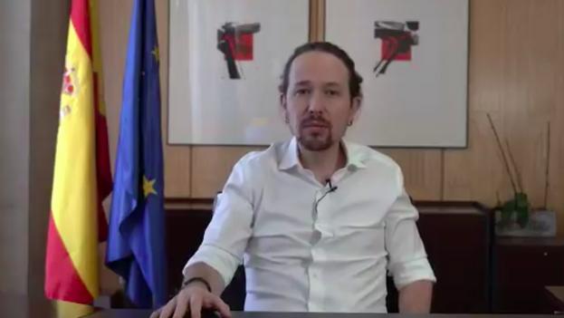 Pablo Iglesias ha dado la noticia de su candidatura por Madrid en un video difundido a la prensa y en sus redes sociales. (P.I.)