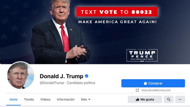 Página oficial de Donald Trump en Facebook